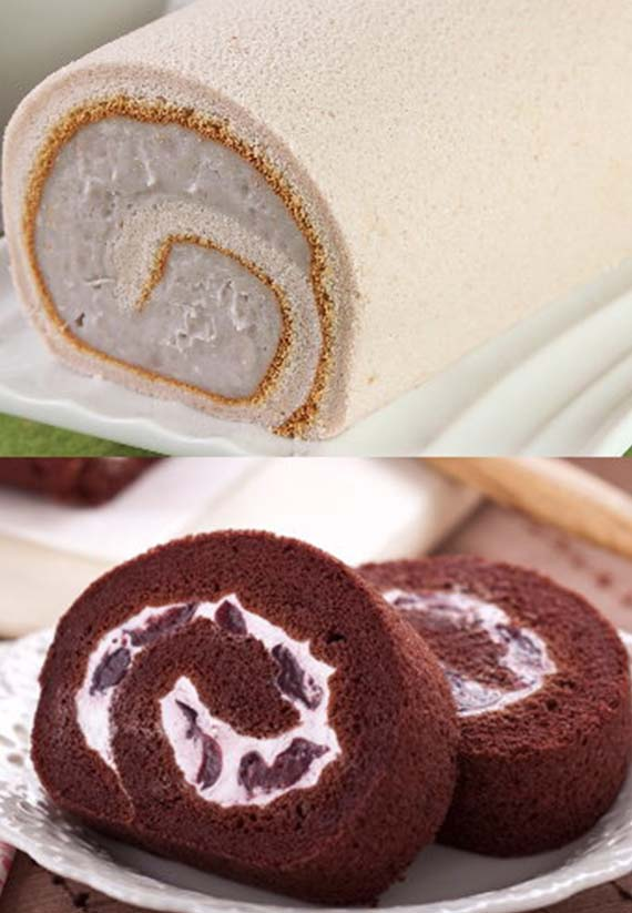 超人氣芋泥捲蛋糕+巧克力黑櫻桃蛋糕捲*6入(含運)