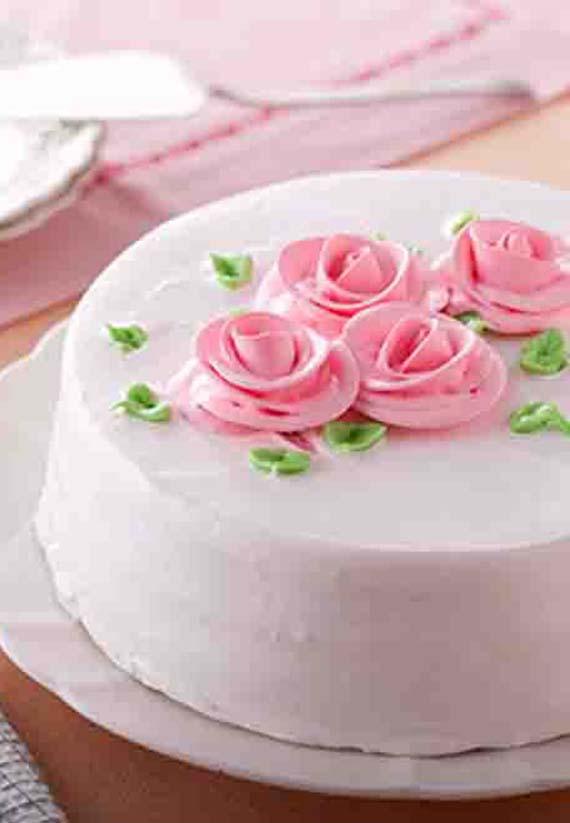 素食無蛋玫瑰香頌蛋糕8吋(含運)